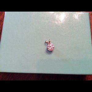 10k gold brilliant cut solitaire CZ necklace